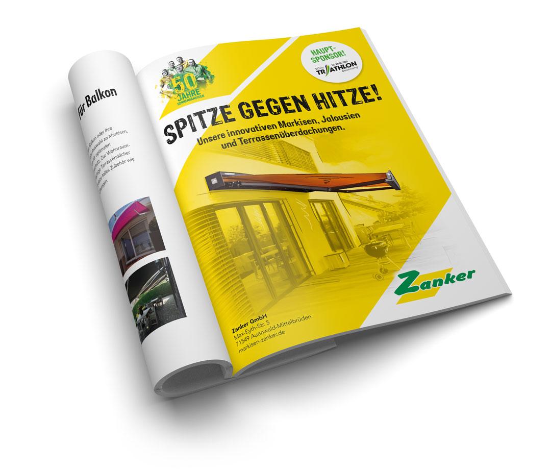 Magazin mit Zanker Anzeige