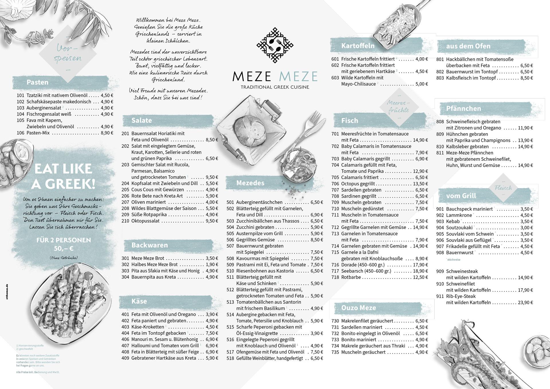 Speisekarte von Meze Meze