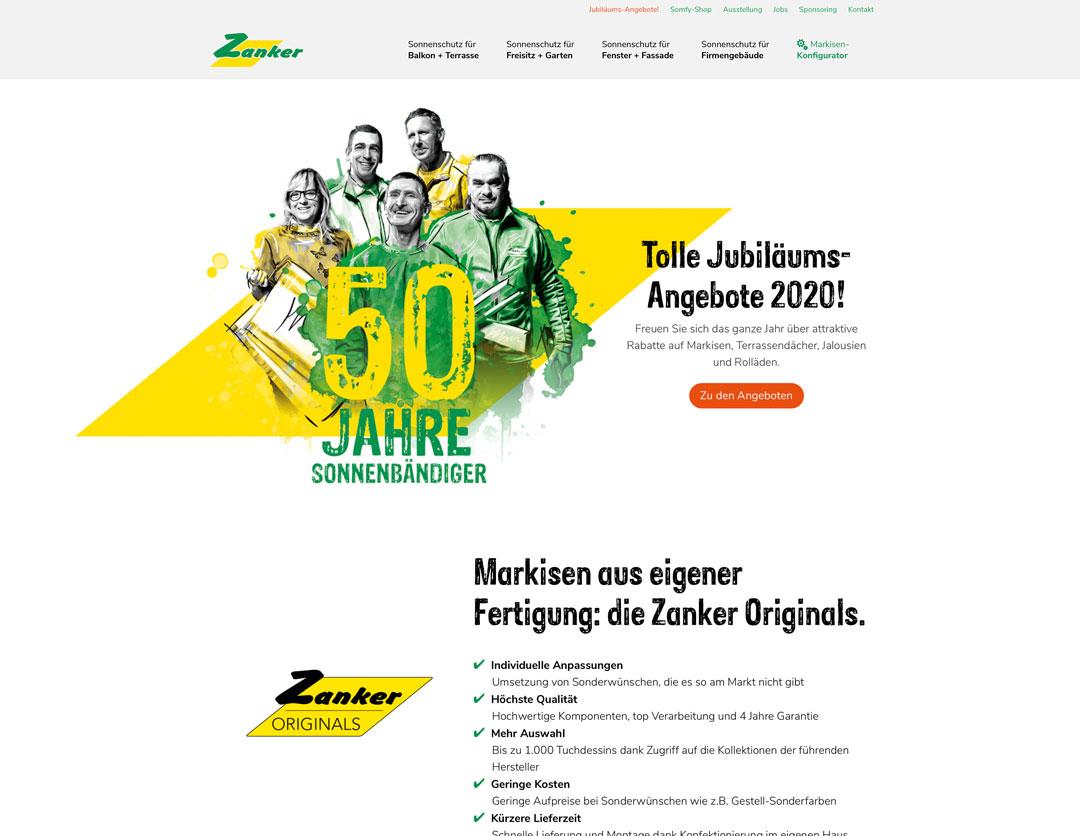 Zanker Website Ausschnitt Startseite