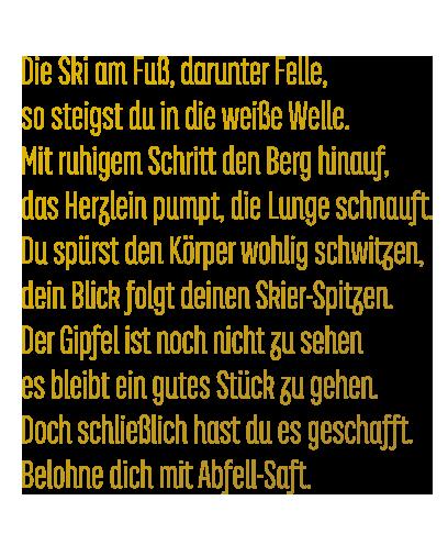 Abfell-Saft Gedicht
