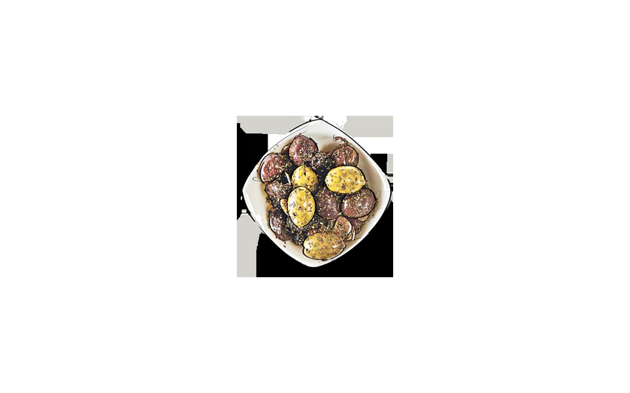Manouri mit Sesam und Blütenhonig