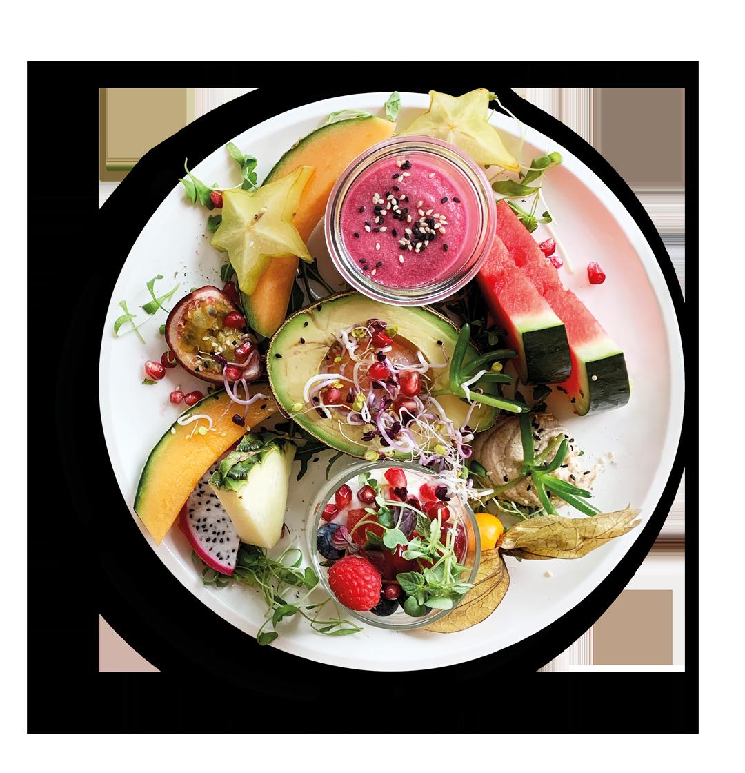 NETZTER – Angerichteter Frühstücksteller