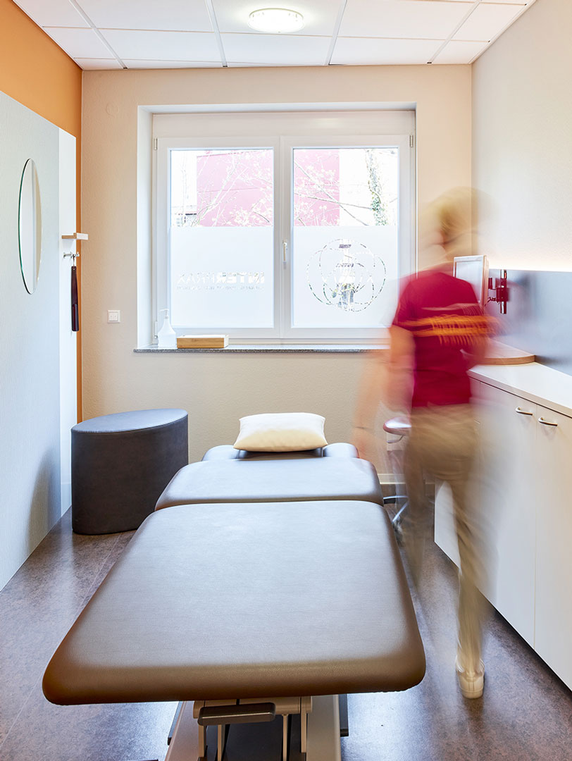 Interprax Physiotherapie Behandlungszimmer