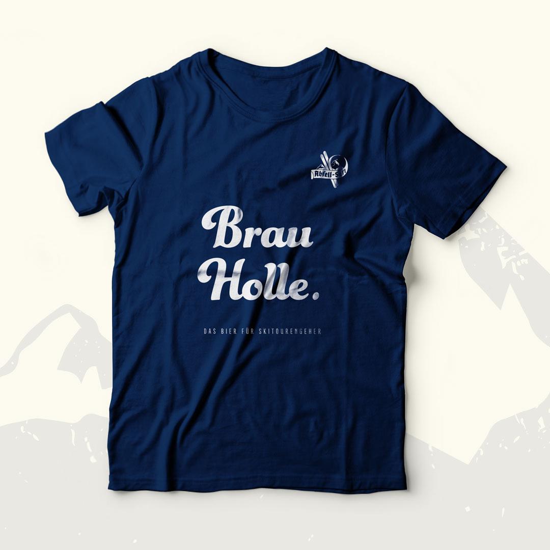 "Abfell-Saft T-Shirt – ""Brau Holle"""