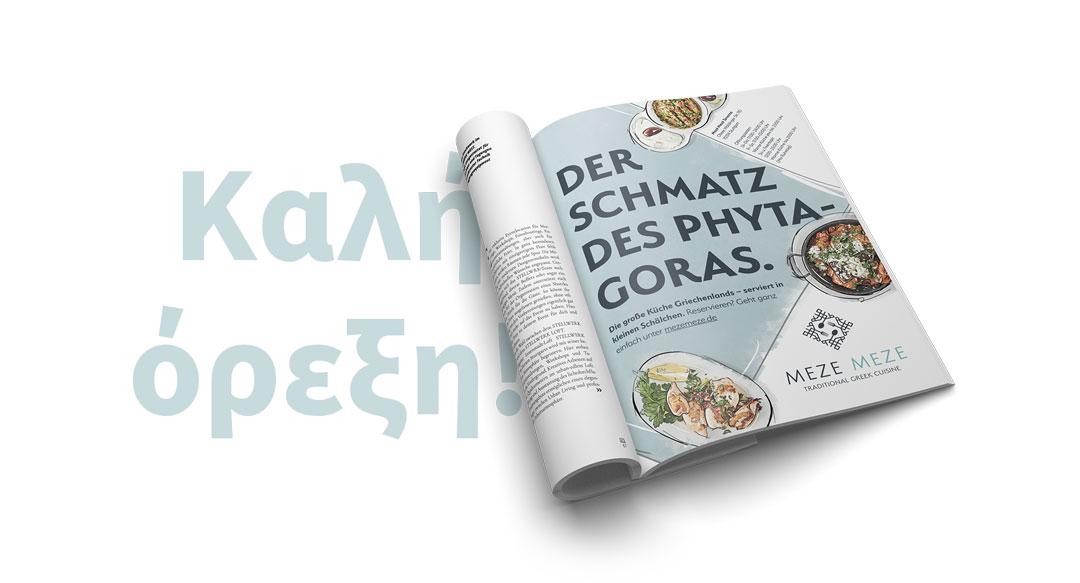 Meze Meze Magazin Anzeige